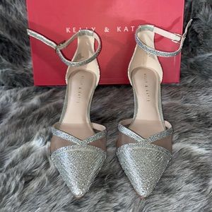 Sparkly high heels, with stone embellishments